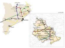 Mapa de situació d'Els Cortals